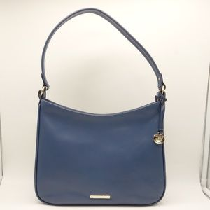 NWT BRAHMIN Noelle Hobo Blue Leather Shoulder Bag